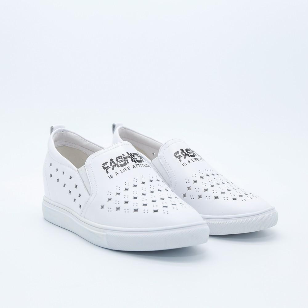 Giày Lười Nữ Aokang Màu Trắng 182332201