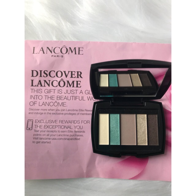 Bộ Phấn Mắt Lancome Color Design Eyeshadow Pale French Riviera - Cool, 5 màu, size sample 2g
