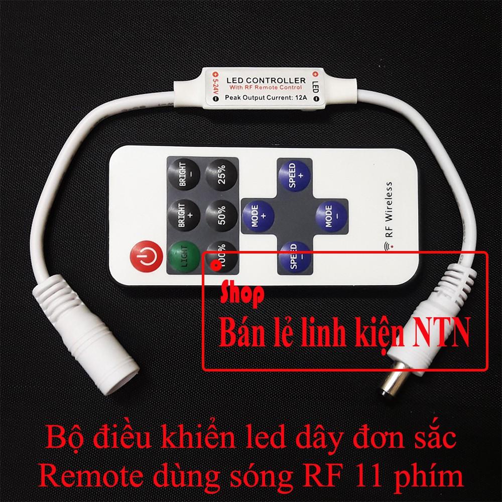 Bộ điều khiển đèn led dây đơn sắc dùng remote vô tuyến - 3374162 , 1169432402 , 322_1169432402 , 45000 , Bo-dieu-khien-den-led-day-don-sac-dung-remote-vo-tuyen-322_1169432402 , shopee.vn , Bộ điều khiển đèn led dây đơn sắc dùng remote vô tuyến