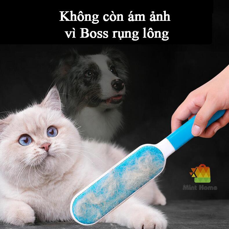 Cây lăn lông mèo ,lược chải lông mèo, chó, thú cưng, cây lăn bụi quần áo, giường tĩnh điện đa năng tiện dụng
