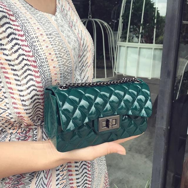 [NEW 2019] Túi xách đeo chéo Hàn Quốc nữ silicon NEW đẹp DC33