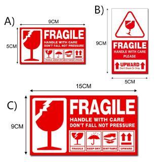 240 1000 PCS Fragile Sticker Poslaju Safety Care Shipping Mark Fragile Warning Sticker 9*5cm 15*9cm