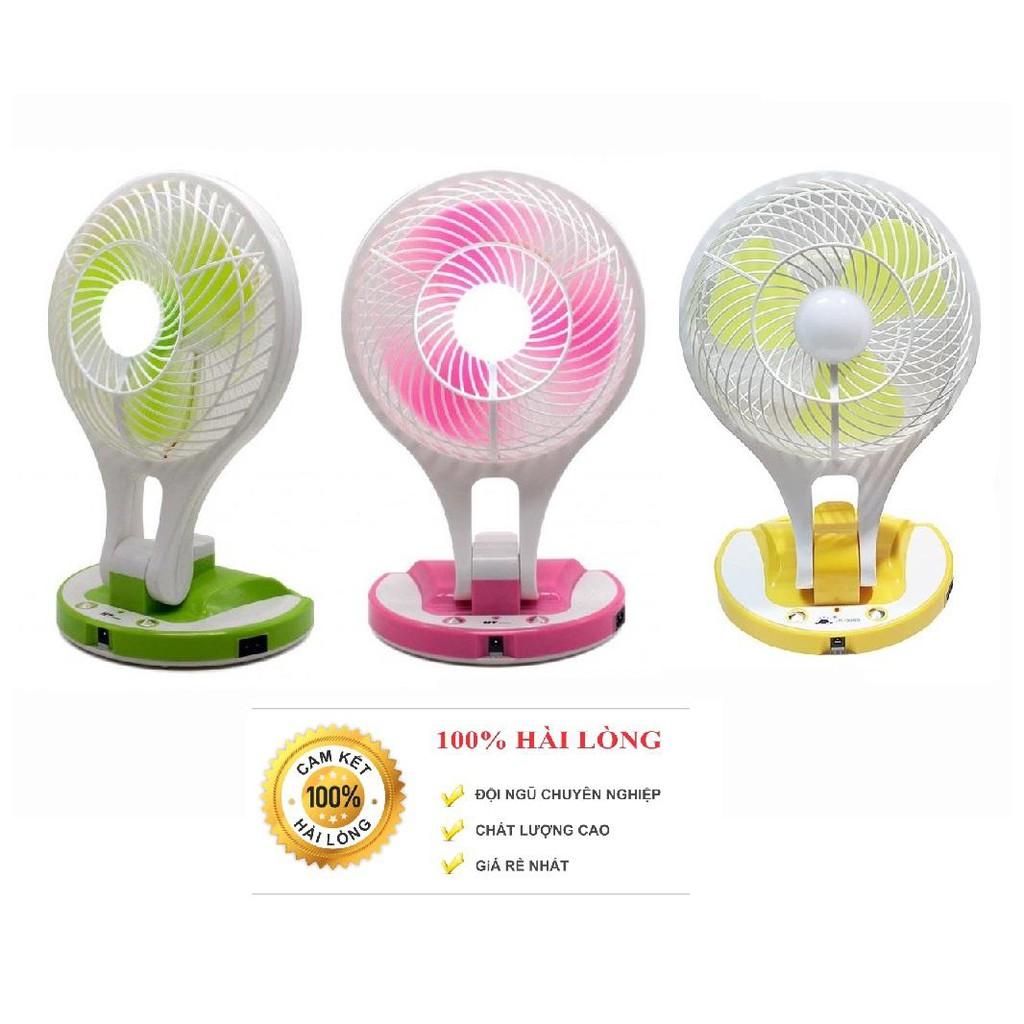 Combo 2 Quạt tích điện mini fan 2 in 1