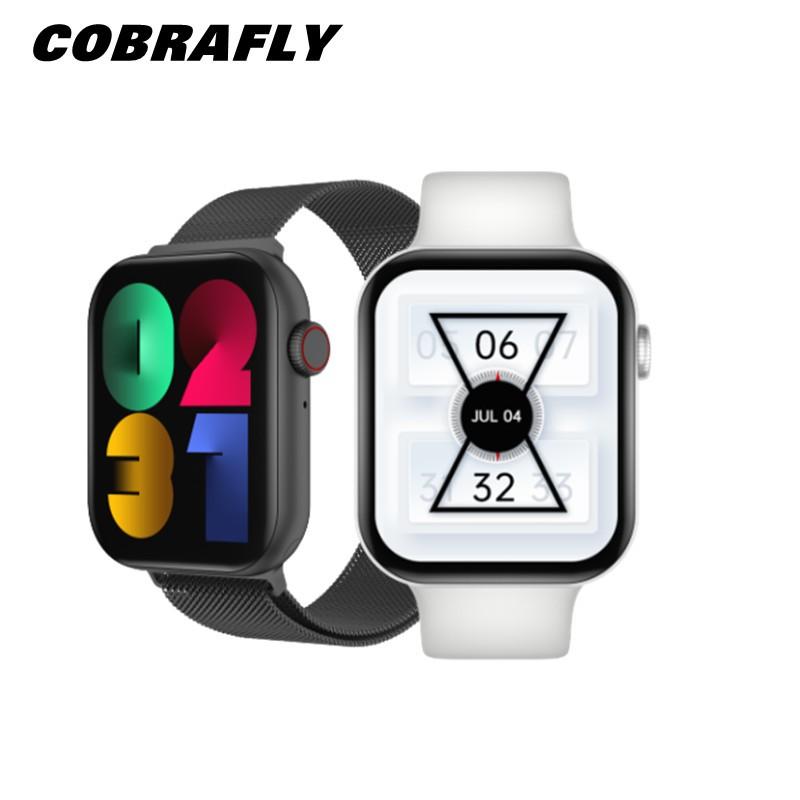 Đồng Hồ Thông Minh Cobrafly Fk78 Series 6 Bluetooth Theo Dõi Nhịp Tim Sạc Không Dây Nút Xoay Gps Thể Thao 1,78 Inch