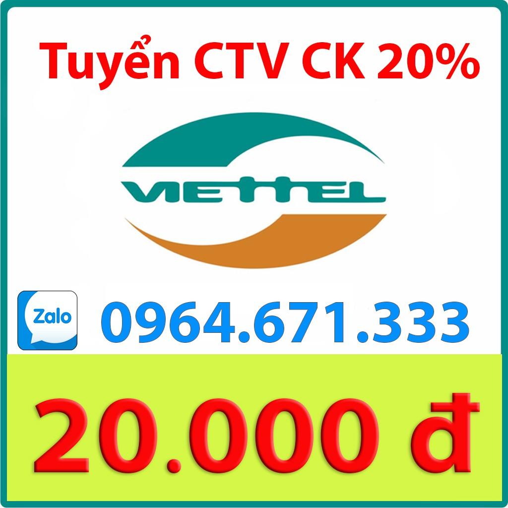 Thẻ Viettel 20k ( Chat với shop để nạp )