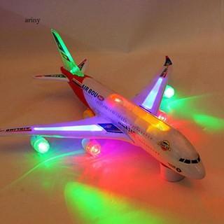 ♞Children Kid Toy Autopilot Flash Sound Aircraft Music Lighting Toy Airplane