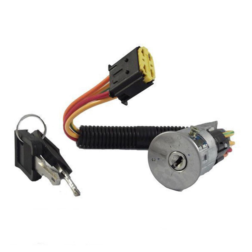 8.14【HOT】Ignition Switch Lock Barrel& 2 Keys Compatible For RENAULT CLIO Mk2 1998-2005