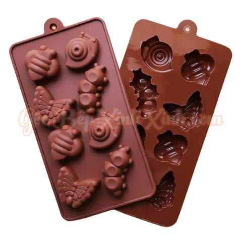 Khuôn silicon làm thạch kẹo socola ốc sên sâu bướm 8 ô - 2735412 , 855988529 , 322_855988529 , 30000 , Khuon-silicon-lam-thach-keo-socola-oc-sen-sau-buom-8-o-322_855988529 , shopee.vn , Khuôn silicon làm thạch kẹo socola ốc sên sâu bướm 8 ô