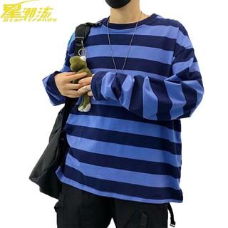 áo sweater cổ tròn hoạ tiết kẻ sọc