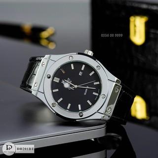 [Tặng box + bảo hành 12th] Đồng hồ nam HBL-42 mặt trơn dây da thơm cao cấp fullboxx bảo hành 12 tháng donghovip thumbnail