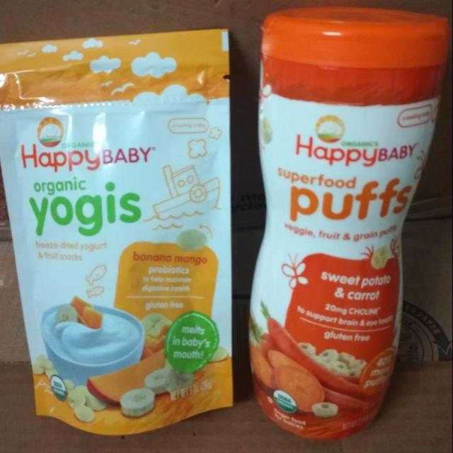 (Happy Baby) Combo Sữa chua khô và Bánh ăn dặm