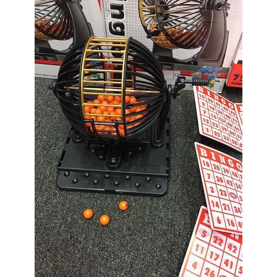 Bộ đồ chơi lồng quay loto 25cm loại lớn 90 số 48 tờ dò số