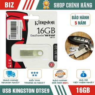 USB Kingston DTSE9 16GB - Vỏ kim loại - Bảo hành 5 năm!!!