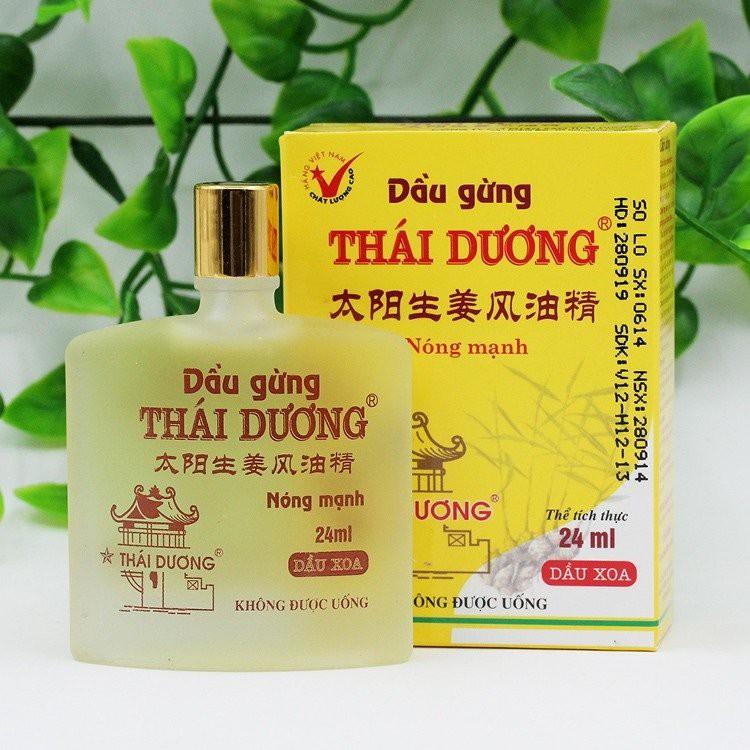 ✅ [CHÍNH HÃNG] Dầu Gừng Thái Dương – Nóng mạnh, giúp thông kinh, hoạt lạc, giảm ho, ngừacảm cúm, cảm lạnh