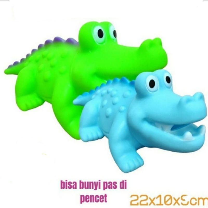 Vịt cá sấu cao su phát ra tiếng kêu cho bé