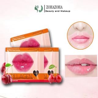 Mặt Nạ Môi Collagen Cherry Images Giúp Môi Mềm Mại Hồng Hào Cằn Bóng Dưỡng Cấp Ẩm Cho Môi thumbnail