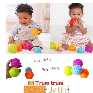 [NHẬP TOYFREESHIP1 GIẢM 15%] Set 6 bóng mềm chút chít kích thích giác quan cho bé