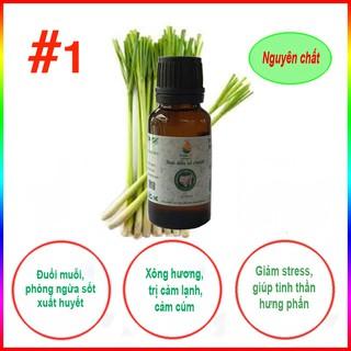 [ KHUYẾN MÃI ] Tinh dầu sả chanh nguyên chất GreenOil – 10ml, xông hương, đuổi muỗi, kiến ba khoang