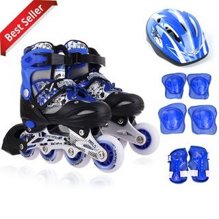 Giày Trượt Patin LongFeng 906 bộ đầy đủ bảo hộ chân tay và mũ chính hãng