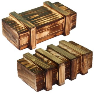 Hộp gỗ bí mật 1 ngăn và 2 ngăn thumbnail