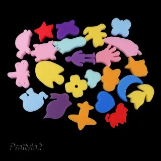 24Pcs Mixed Sponge Painting Shapes for Kids Early Learning Art Craft Tools
