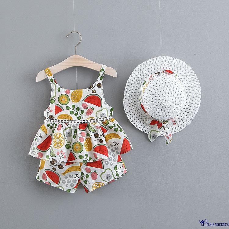 Bộ quần áo mùa hè đáng yêu cho bé gái