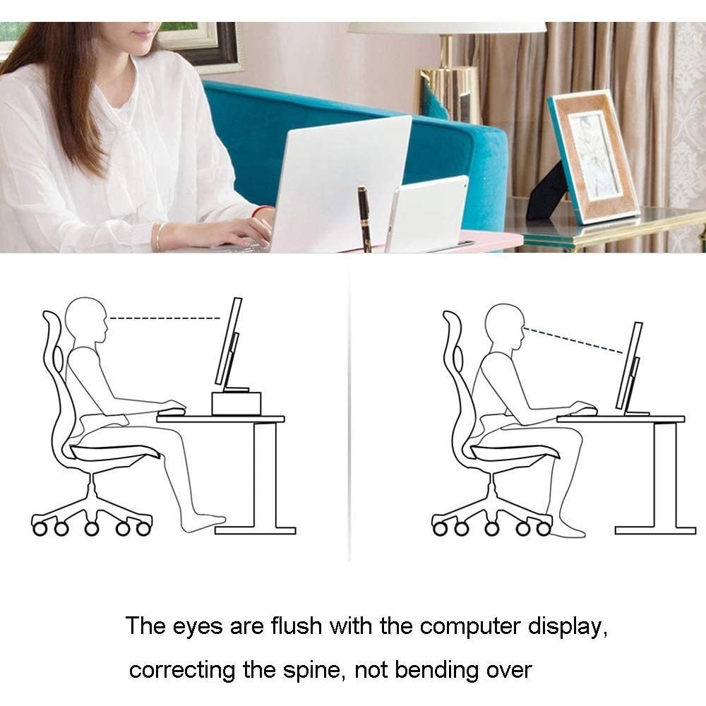 Kệ gỗ để màn hình máy tính FAS.PRA nâng màn hình lên đến 14cm / Giảm đau cổ / giúp bàn làm việc gọn gàng