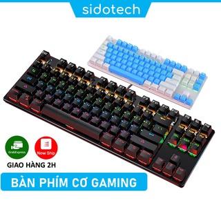 Bàn phím cơ gaming TKL 87 nút mini SIDOTECH YINDIAO K004 Blue Switch cảm giác bấm chơi game tốt có LED RGB 7 màu thumbnail