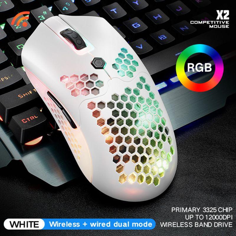 Chuột Gaming Kok New X2 12000dpi, 7 Nút Bấm, Led Rgb