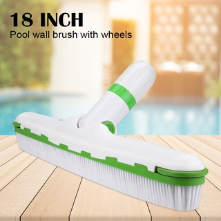 Underwater Wall Bottom Vacuum Head Suction with Wheel 18 inch Swimming Pool Cleaning Tool Brush