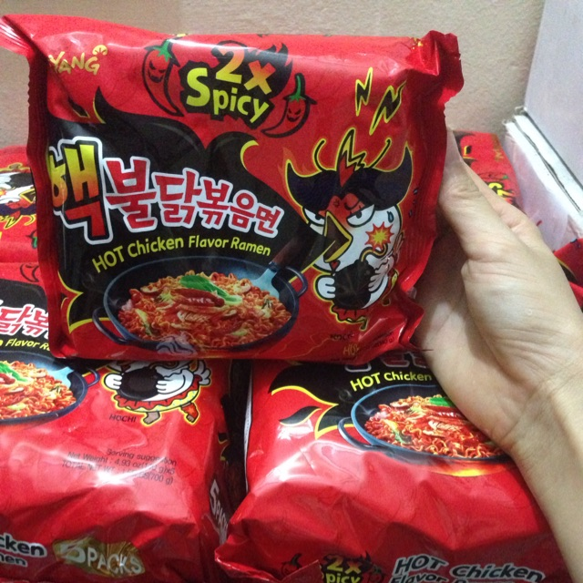 Mì cay 2x Samyang Hàn Quốc combo 10 gói