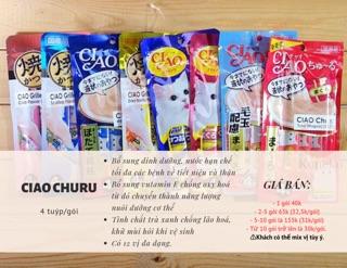 Súp thưởng Ciao Churu cho mèo gói 4 tuýp [18 Vị] [Giao ngay Nowship Grab] 2