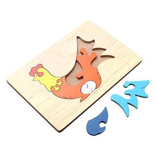 Đồ chơi gỗ Tranh Ghép Hình Con Gà Mái