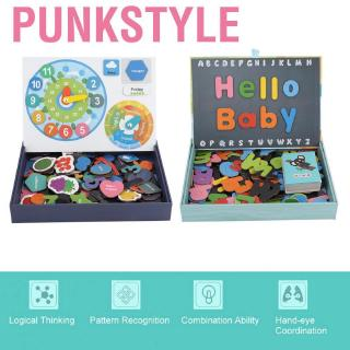 Punkstyle Magnetic puzzle toy early learning digital letters. Cognitive magnetic with English paper car