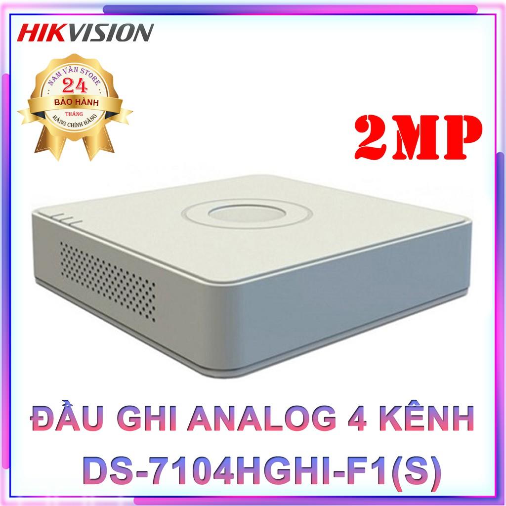 Đầu Ghi Hình Camera Analog 4 Kênh HIKVISION DS-7104HGHI-F1(S) - Hàng Chính Hãng