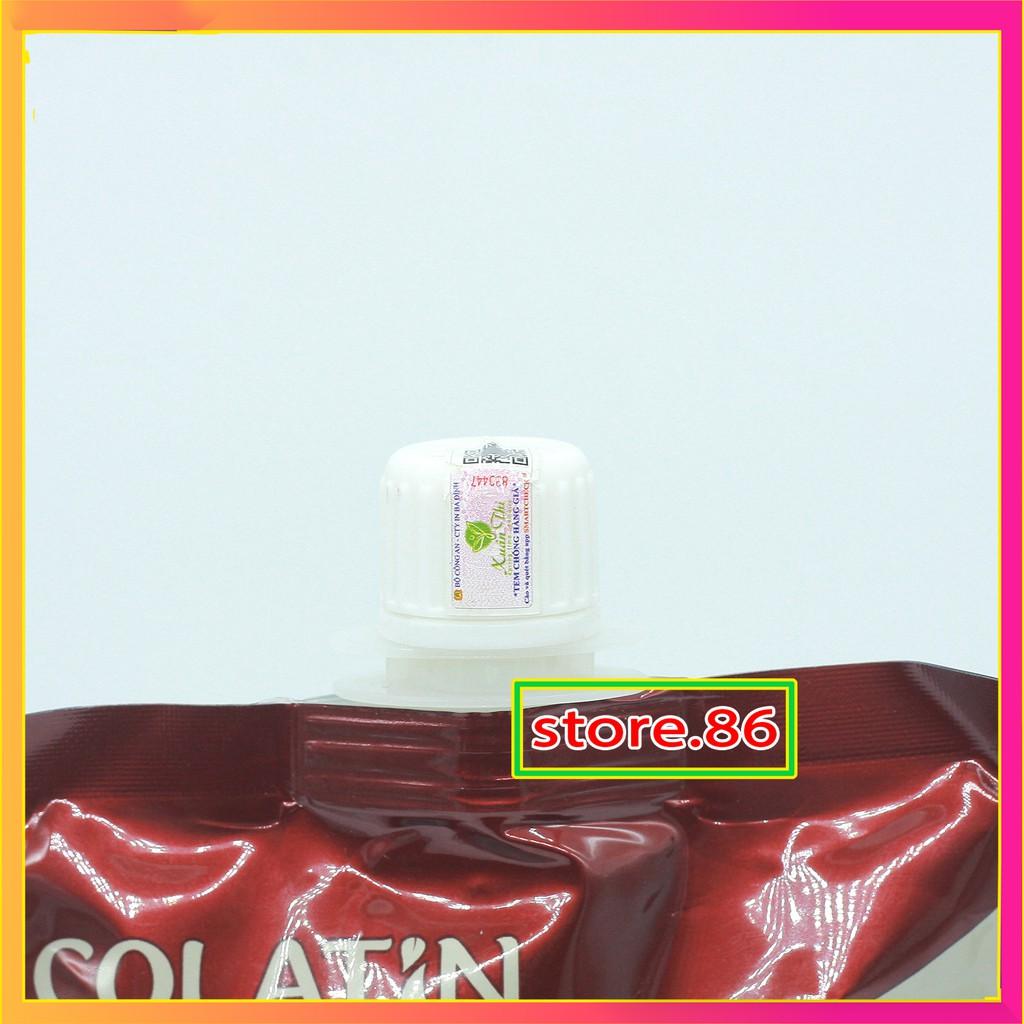 Ủ toc collagen phục hồi tóc kem ủ hấp tóc VITAMIN E COLATIN MASK ủ tóc siêu mềm mượt túi 500ml hàng chính hãng