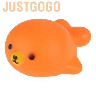 Justgogo Cartoon Animal Infant Baby Bath Toys Interesting Children Water Play Bathing Toy Set