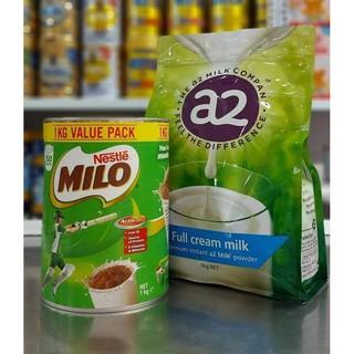Combo Milo Úc 1kg & A2 Úc nguyên kem 1kg