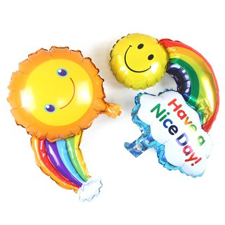 1Set Rainbow Balloons Smile Cloud Birthday Party Wedding Decoration Balloons