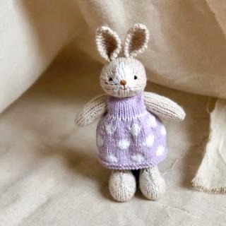 Thỏ đan váy Tím size nhỏ