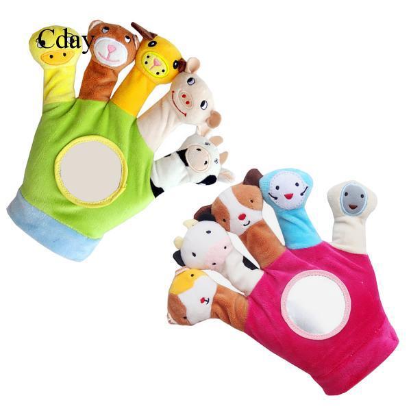 Glove Animal Finger Plush Toys Children Baby Doll Kids Educational Hand Puppets