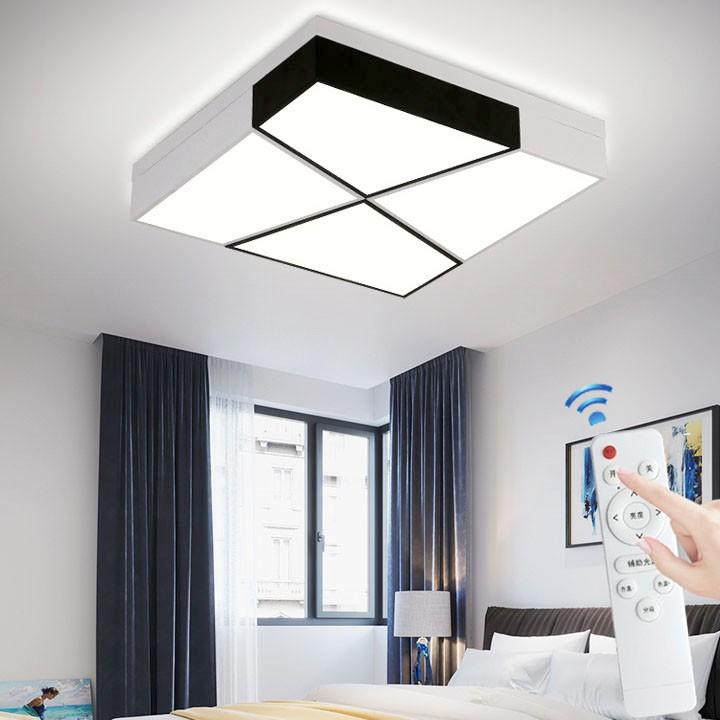 Đèn led ốp trần trang trí phòng ngủ dạng hộp vuông 60cm có điều khiển
