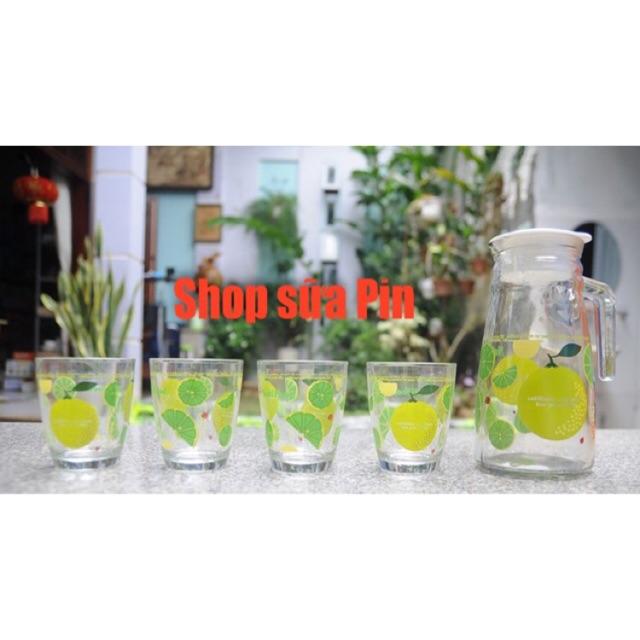 Bộ ly thủy tinh- 3 chảo chống dính - quà nutifood