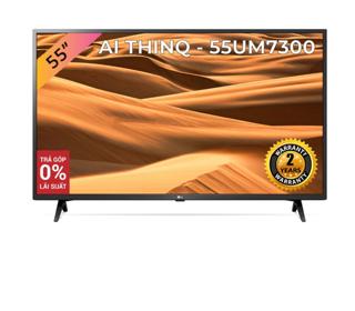 Smart Tivi LG 55 Inch UHD 4K 55UM7300PTA Model 2019 - Có Magic Remote (Chính Hãng)