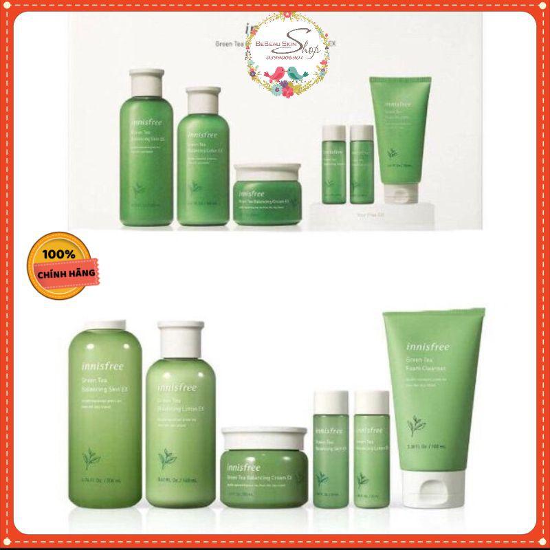 Bộ dưỡng da / Dưỡng Da Innisfree Green Tea Balancing Skin Care (set 6 món)