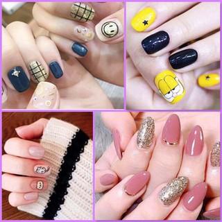 Bộ dán móng tay nail sticker gồm 14 móng, không thấm nước, độ đàn hồi tốt. thumbnail