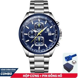 Đồng hồ Nam BEN NEVIS 6027G Chạy 6 Kim - Dây Thép Lịch Ngày