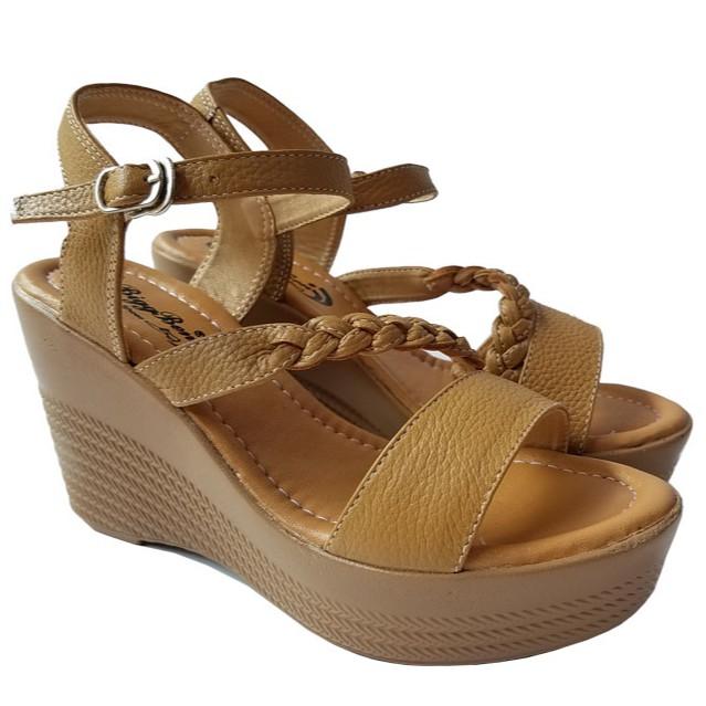 Giày sandal xuồng nữ BIGGBEN da bò thật cao cấp HKD178