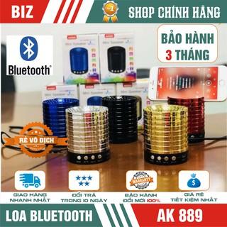 [Mã ELFLASH5 giảm 20K đơn 50K] Loa bluetooth âm thanh nổi AK889 (có giá đỡ điện thoại) – Hàng nhập khẩu