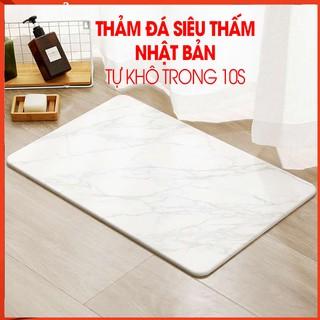 [FREESHIP❤️] THẢM ĐÁ NHẬT BẢN SIÊU THẤM NƯỚC – Thảm nhà tắm 60×40 cm tiết kiệm công sức, chống ẩm mốc và cực thẩm mỹ